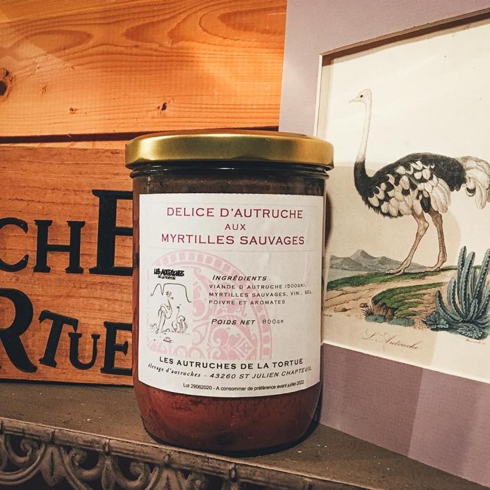 Délice d'autruche aux myrtilles sauvages